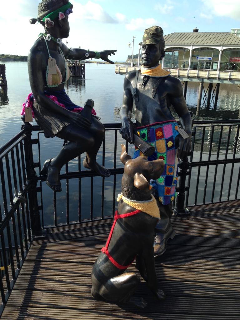 statue spot on Cardiff  Bay